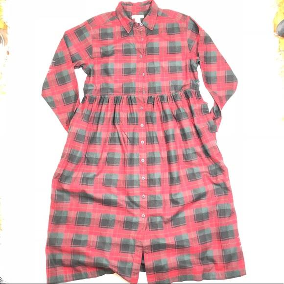 a295d1b1ac Eddie Bauer Dresses | Ls Plaid Flannel Dress Shirt Xl | Poshmark